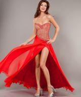 Citra plesové šaty s korálky červené 4b2eb69cc3